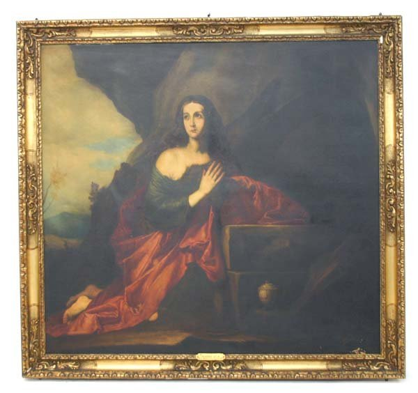 102: Ribera-The Penitent Magdalen Oil Painting