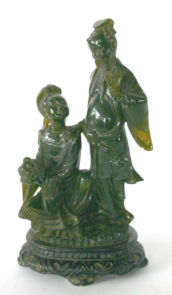 3: Oriental Carved Jade Figure of Couple