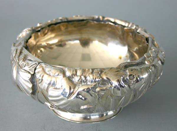 6: Sterling Silver Repousse Rose Bowl