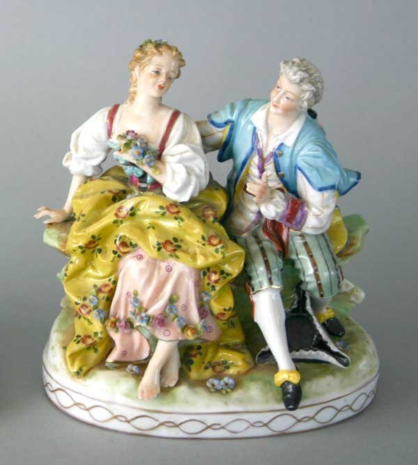 9: German Meissen Style Porcelain Figural Group