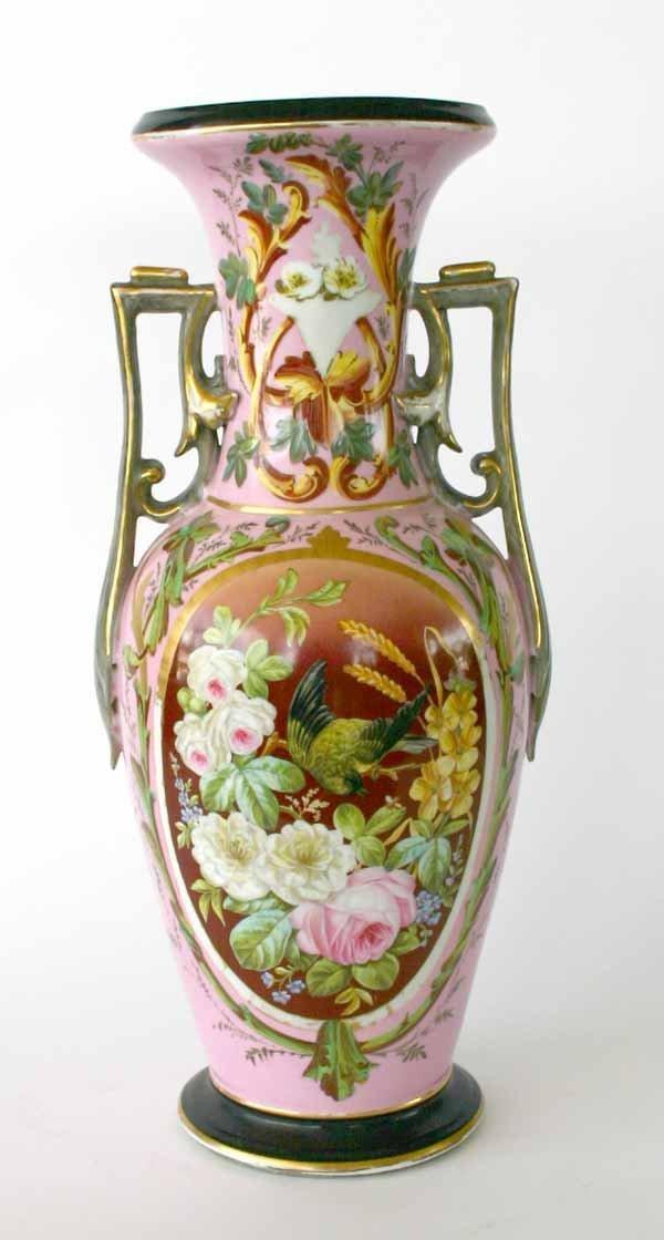 15: Large 19th C Old Paris Porcelain Vase