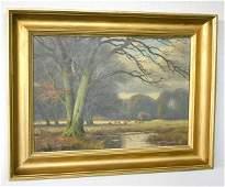 """197: Deer in the Royal Deer Garden"""" Oil Painting"""