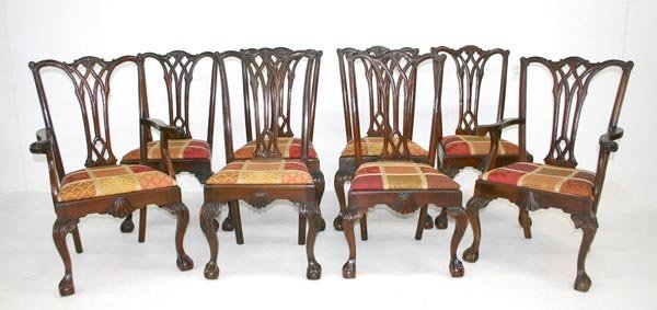 22: Eight American Chippendale Style Dining Chairs