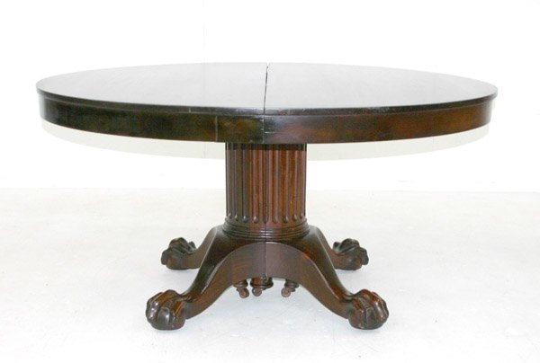 23: American Empire Mahogany Dining Table. Circa 1880