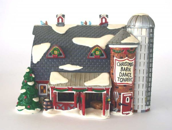 1006: Dept 56 Christmas Barn Dance 54910 Snow Village