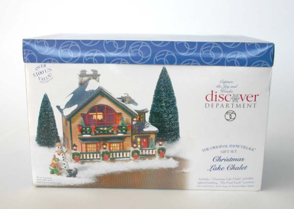 1012: Dept 56 Christmas Lake Chalet 55061 Snow Village