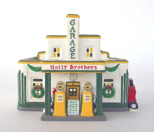 1021: Dept 56 Holly Brothers Garage 54854 Snow Village