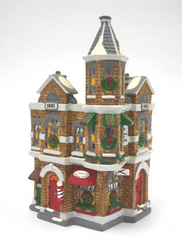1052: Dept 56 Jack's Corner Barbershop 54062 Snow Villa