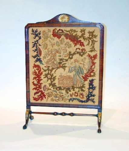 "4: Chippendale Fire Screen, 43""H X 29.5""W."