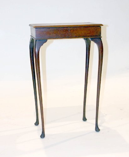 5: English Edwardian Inlaid Occasional Side Table, Circ