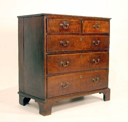7: 18th Century Pollard Oak Bachelor's Chest in origina