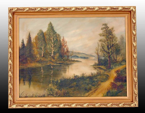 "9B: Oil on Canvas Painting - ""NEW HAMPSHIRE LANDSCAPE"""