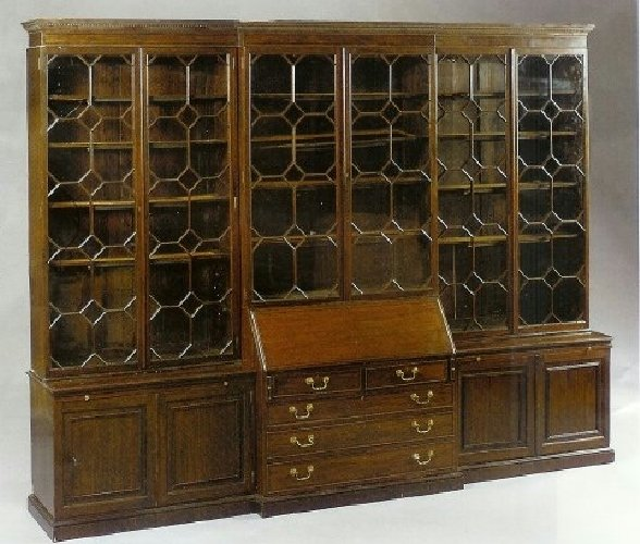 15: Georgian Mahogany Breakfront. Six door bookcase upp