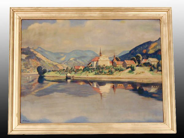 18A: Oil on Canvas Painting - Listed Swiss Artist