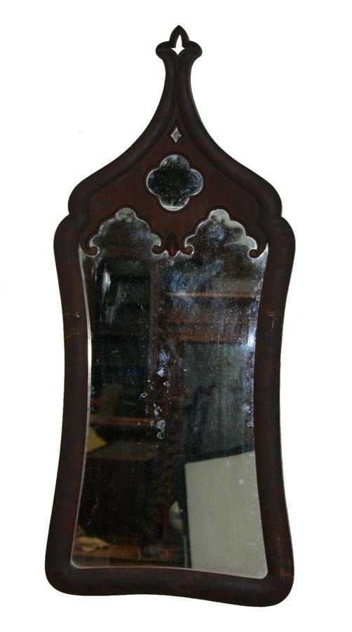 4: American Victorian Carved Gothic Hall Mirror. c. 185