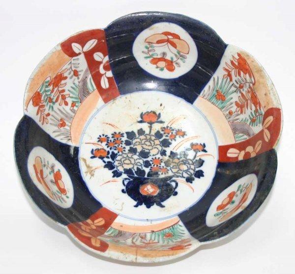 """5: 19th c. Imari Hand Decorated Bowl. c. 1860. 4""""h x 10"""