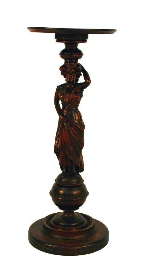 6: RJ Horner Victorian Figural Carved Mahogany Pedestal