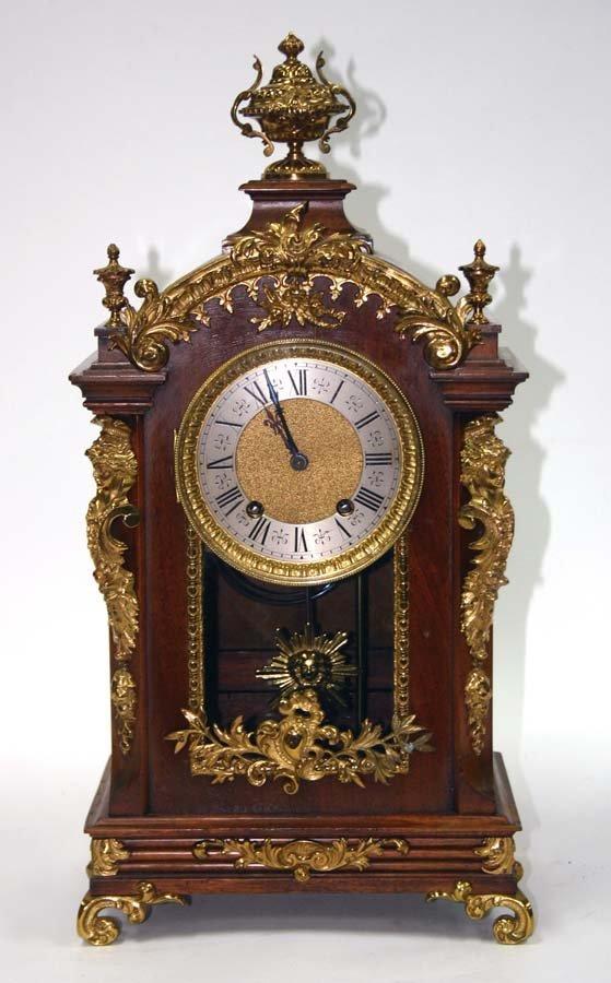 7: Louis Style Bronze Mantle Clock Lenzkirch Movements