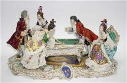 24 Large Dresden Porcelain Figural Group of Ladies  G