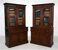108A: Rare Matched Pair Victorian Secretary Desks