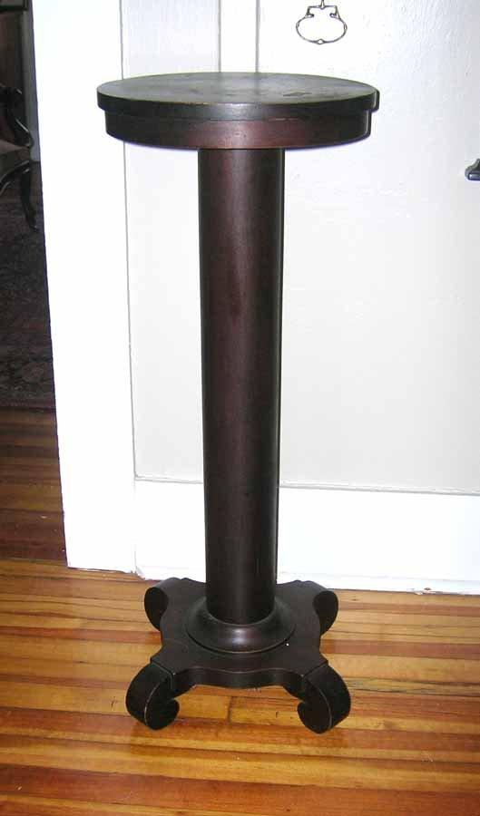 1: Mahogany Empire Style Pedestal