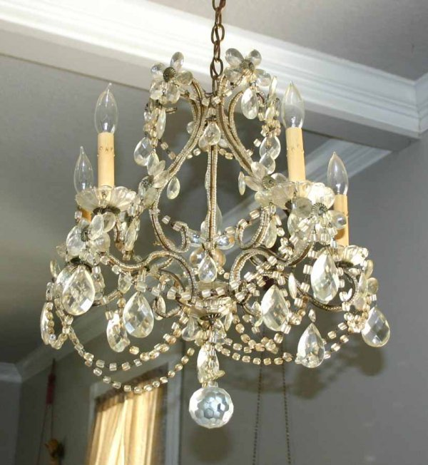 14: Maria Theresa Style Crystal & Glass Chandelier