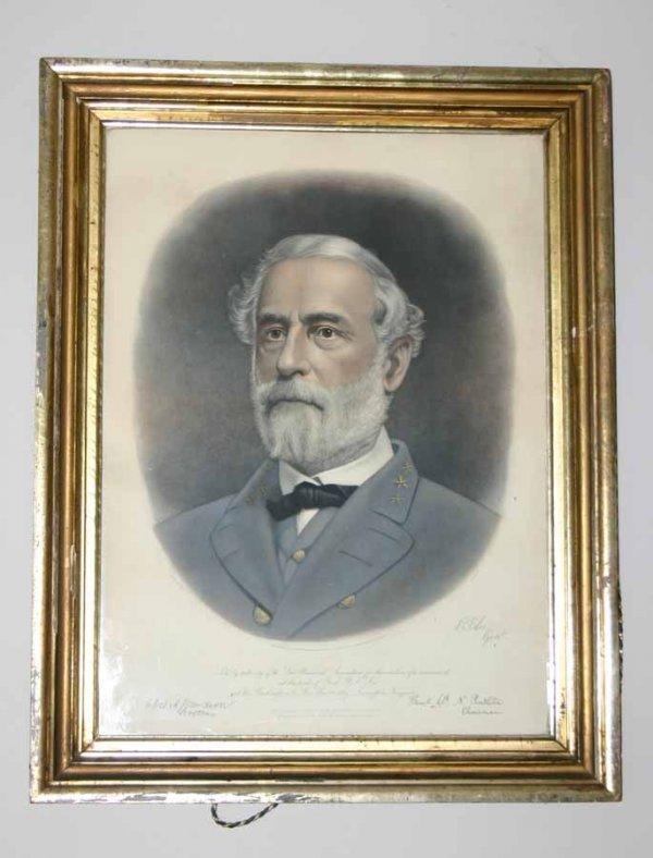 16: Antique Print of Robert E Lee