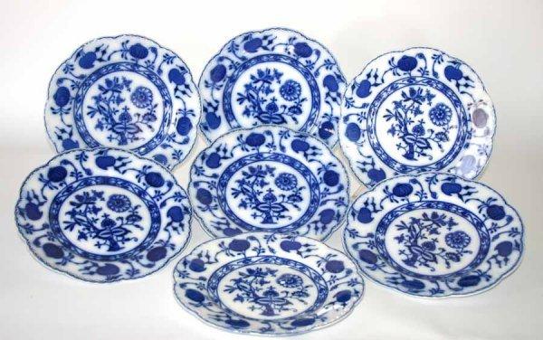 19: Seven Blue & White Plates