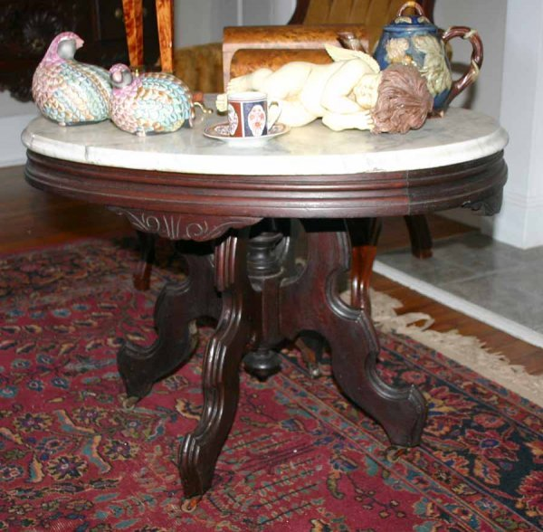 179: Victorian Marble Top Side Table. Reduced to Coffee