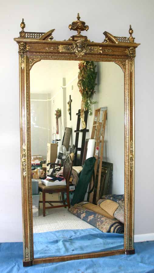 242: Antique Gilded Pier Mirror