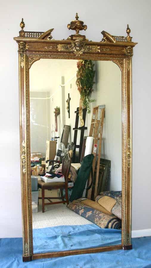 242: Antique Gilded Pier Mirror