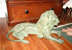 269: Pair of Cast Bronze Lions