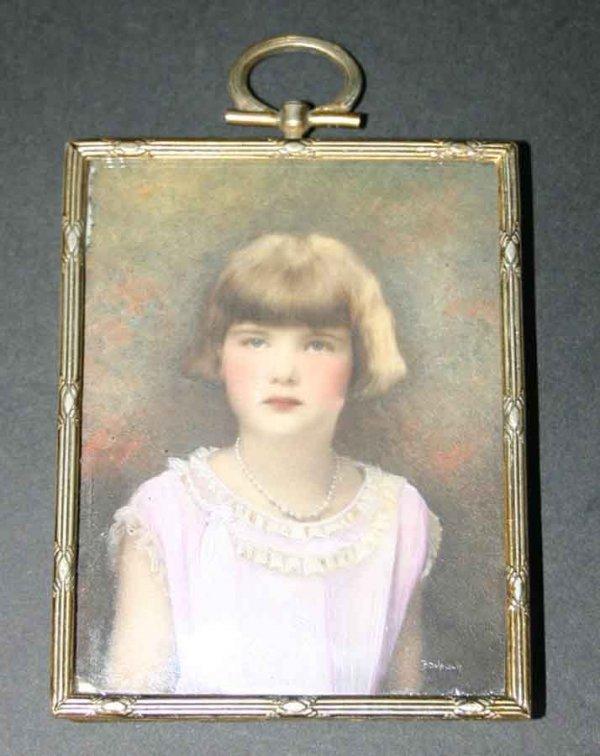 1: Antique Miniature Portrait Painting on Porcelain of