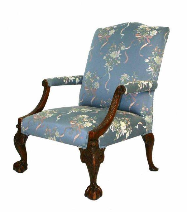 3: Georgian Style Library Chair Circa 1890