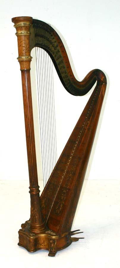 4: Antique Lyon & Healy Harp Model No. W-104