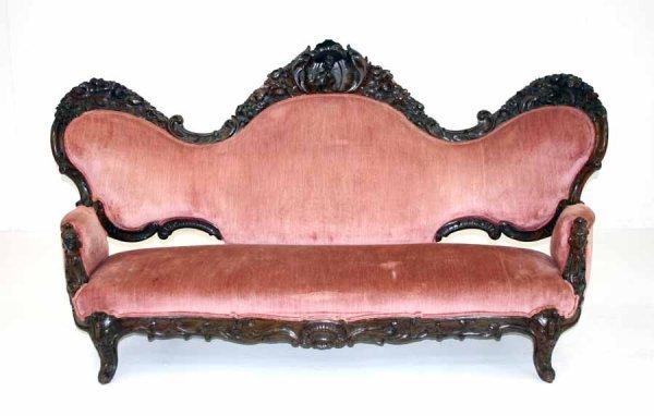 14: Victorian Rococo Carved Sofa. Circa 1870