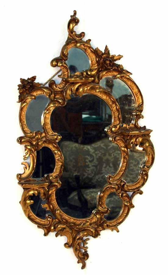 18: 19th c Carved Fantasy Curio Mirror. Circa 1890