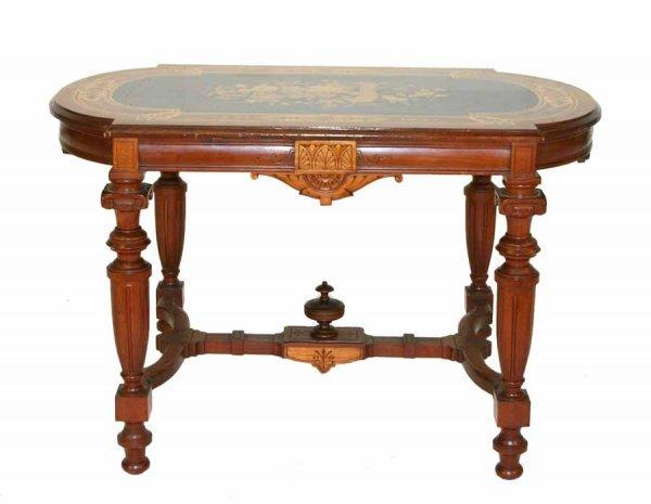 19: American Renaissance Revival Inlaid Center Table