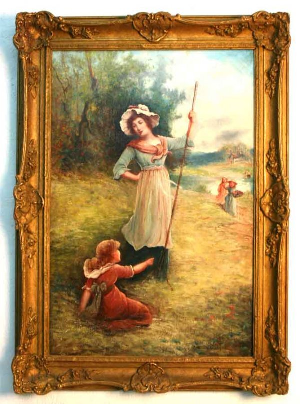 22: Oil Painting of Mother & Child