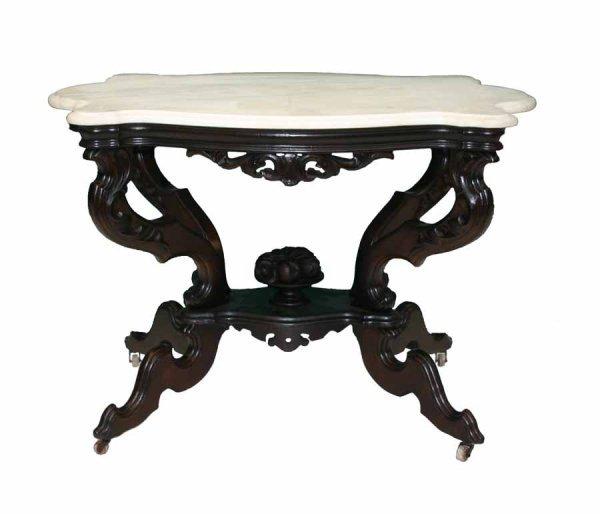 23: Victorian Mahogany Rococo M/T Center Table