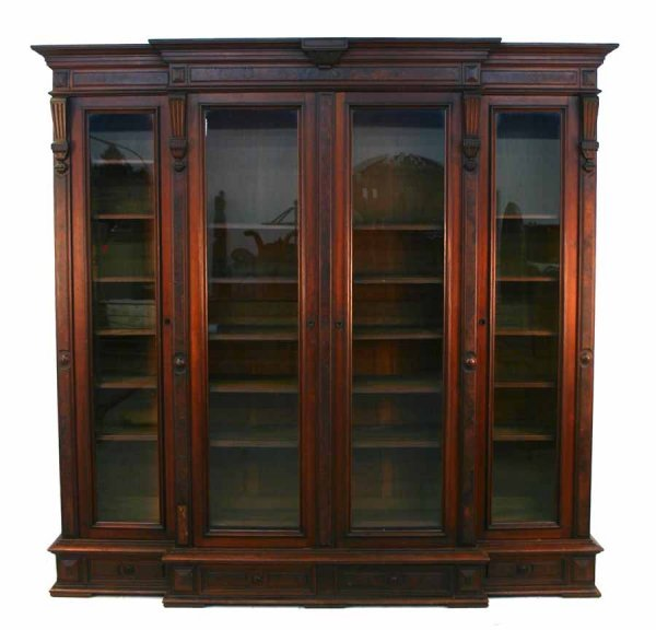 95: Large Victorian Renaissance Walnut Bookcase