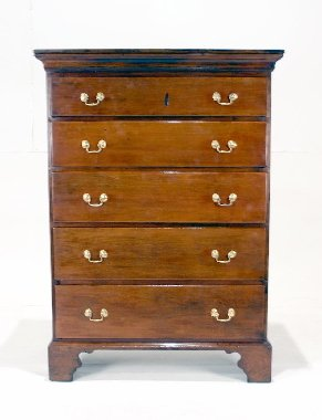 005: 18th C. American Cherry High Chest