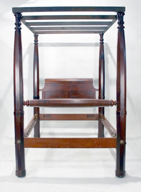 009: American Mahogany Empire Canopy Bed