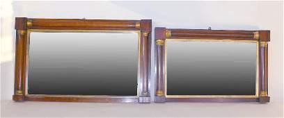 013: Pair English Empire Style Mirrors