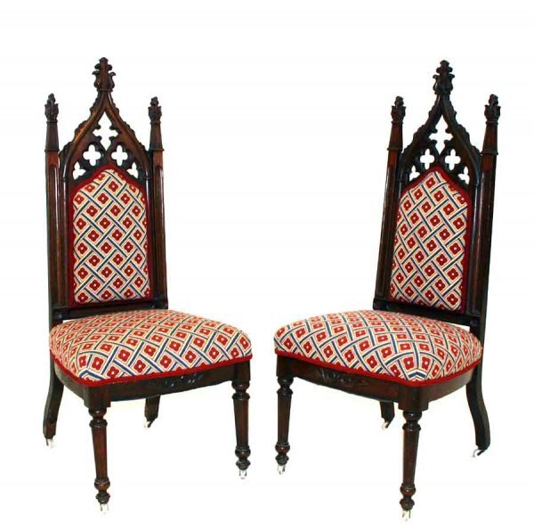 2: Pair American Victorian Gothic Side Chairs
