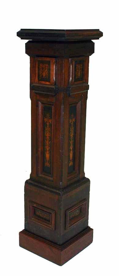 16: American Victorian Inlaid Walnut Pedestal