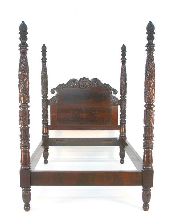 19: American Classical Mahogany Tall-Post Bed