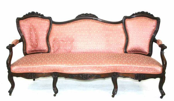 20: Victorian Rosewood Carved Chairback Sofa