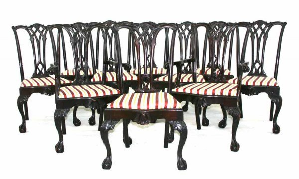 41: 10 American Antique Chippendale Dining Chairs