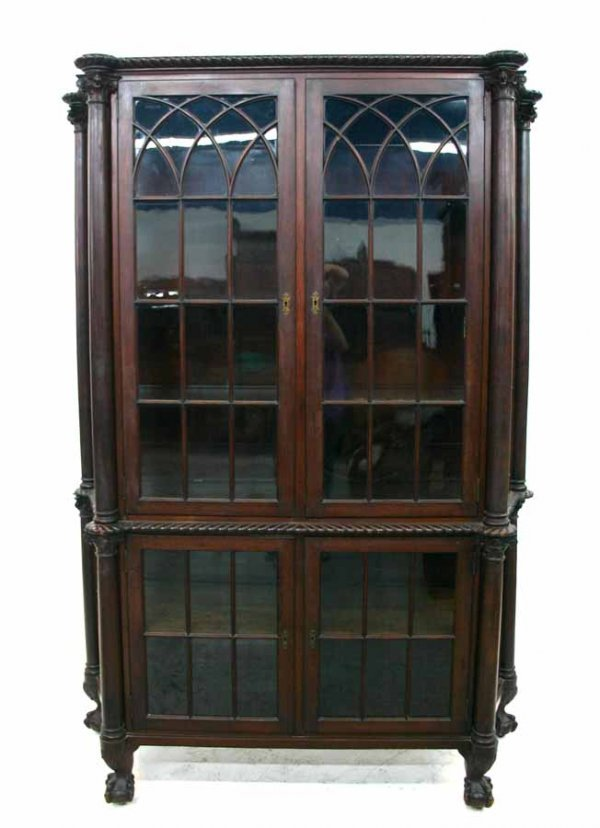 44: American Mahogany Empire China Cabinet